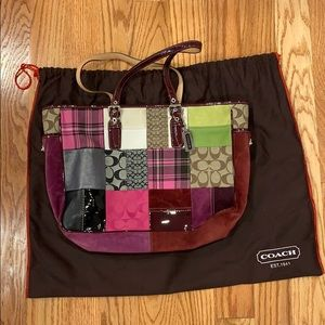 Coach Large Holiday Patchwork Bag